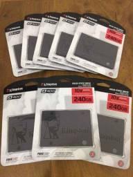 SSD Kingston 240Gb, Novos Lacrados A Pronta Entrega