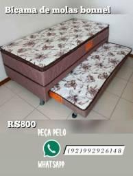 bi cama solteiro de molas
