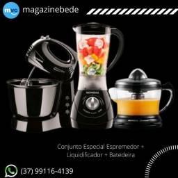 Conjunto Especial Espremedor + Liquidificador + Batedeira