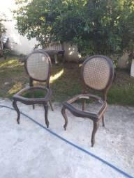 Cadeira antiga medalhão o par madeira