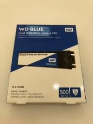 SSD WD Blue M.2 500gb 2280 Novo Lacrado