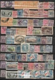 olx0169 lote 70 selos especiais brasil maioria réis raros