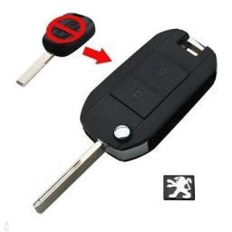 Chave Canivete Peugeot 206, 207, e Citroen C3 ? Modif. Chave Comum ? 02 Botoes