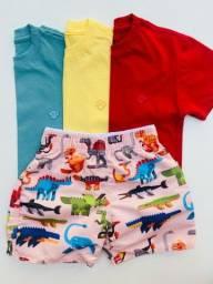 Conjunto (blusa e short tactel ) R$ 45,00