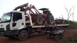 Caminhão prancha traçado