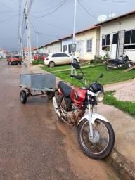 Frete na carrocinha moto