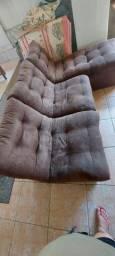Sofá tecido suede