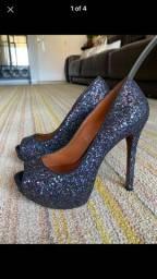 Sapato salto schutz brilho