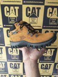 Promoção bota Caterpillar + carteira + cinto + entrega grátis