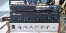 Amplificadores Cotempo + Mesa Mixer Shure