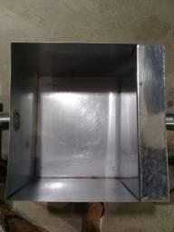 Caixa de Gordura Aço Inox 40x40x30 com cesto