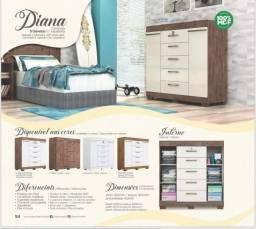 Título do anúncio: Comoda Diana com Portas e Chave nas Gavetas - Só R$599,00