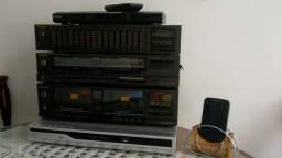 Aparelho de Som Technics Receiver + Equalizador + Tape Deck