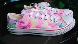 Sapato all star tie dye novo