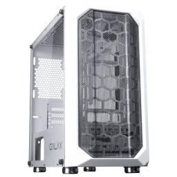 Noobi - Gabinete Gamer Galax Nebulosa Mid Tower S/ Fan Branco - GX700-WH