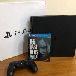 Playstation 4 slim + Last of Us 2 Lacrado - leia!