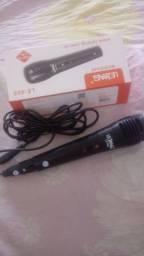 Microfone novo na caixa