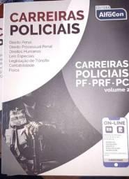 Título do anúncio: Curso da PRF, PF, PC ( Alfacon ) nunca usados .