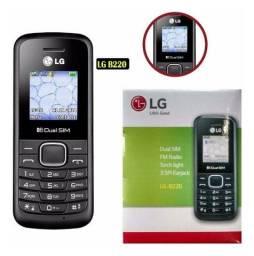 COD:0022 celular lg b220 daul sim 32mb preto LG