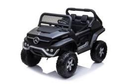 Mini carro elétrico 12v UTV Unimog Mercedes com controle remoto bateria