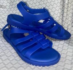 Rasteira Melissa Flox azul