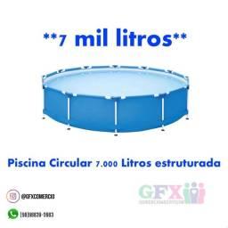 Título do anúncio: Piscina circular 7 mil litros estruturada