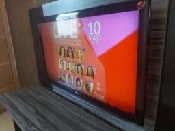 Tv lg 42 lcd com rack e painel