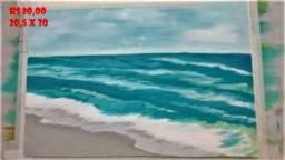 Pinturas em óleo sobre papel canson