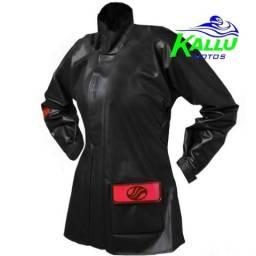 Capa de chuva conjunto de chuvas feminina moto Alba liquidação roupa preta