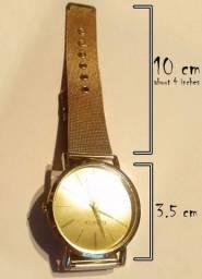 Relógio Geneva unissex Dourado Quartz com Pulseira de Malha de Aço