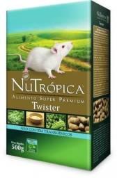 Nutrópica® Twister. P/ Rato Branco De Laboratório E Mercol