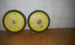 1 Jogo de rodas com pneus aro 16 p/Bicicleta Infantil Completo
