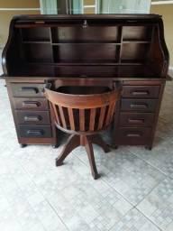 Escrivaninha antiga - Xerife - Com poltrona