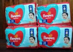 6 pacotes Fralda Pampers Supersec XG