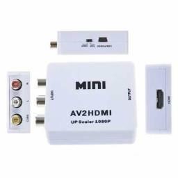 Mini Conversor Av Rca Para Hdmi Com Áudio 1080p Full Hd