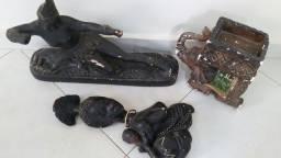 Esculturas de gesso lote