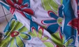 Blusa com coton e algodão de amarrar no pescoço