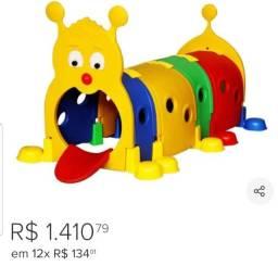 Túnel Infantil Centopéia Brinquedo Playground Para Criança Colorido Importway IWTI-C1