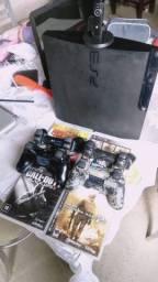 Ps3 Playstation 3 Original Sony com Jogos Controle e Headset joga Online