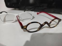 2 armações de óculos