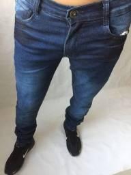 Calça jeans e calça de sarja masculina com elastano