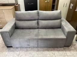 Sofá 2,10m largura retrátil e reclinável