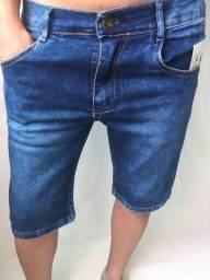 Bermuda com elastano jeans masculina