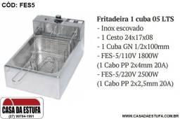 Fritadeira Elétrica Stevan Aço Inox 5 Lts Profissional - FES5