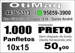 1000 Panfletos 10x15 impressão em preto ? R$ 50,00