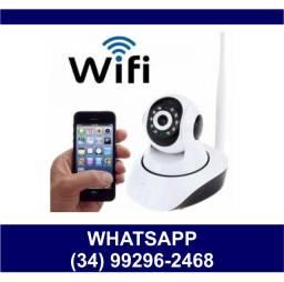 Entrega Grátis * Câmera Wi-Fi Robô Giratória 360º - Chame no Whats