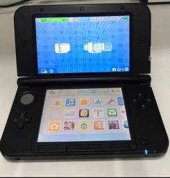 Nintendo 3ds xl com carregador, 2 canetas touch, case e 6 jogos