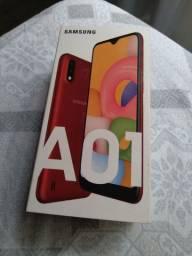 Samsung Galaxy A01 câmera dupla Vermelho