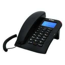 Telefonecom FioIntelbras com Identificação de Chamadas e Viva-Voz - Preto.
