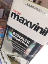 Queima de estoque  - esmalte industrial cinza escuro 18L maxvinil na Cuiabá tintas  ..